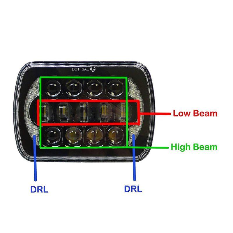 105 W barre de lumière de phares de véhicule 5x7 ''7x6'' camion de LED de lumière de travail de véhicule pour SUV