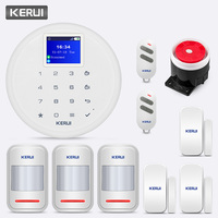 KERUI G17 433MHz Wireless Home Security GSM Alert System IOS Android APP Remote Control Massage Push Alert System Detector Kit