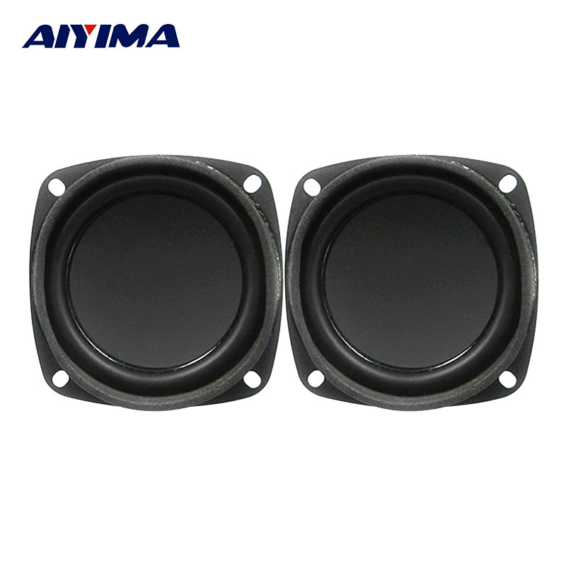 AIYIMA 2Pcs 3Inch Audio Portable Speakers 4Ohm 5W Full Frequency Inner Magnetic Rubber Side DIY Speaker