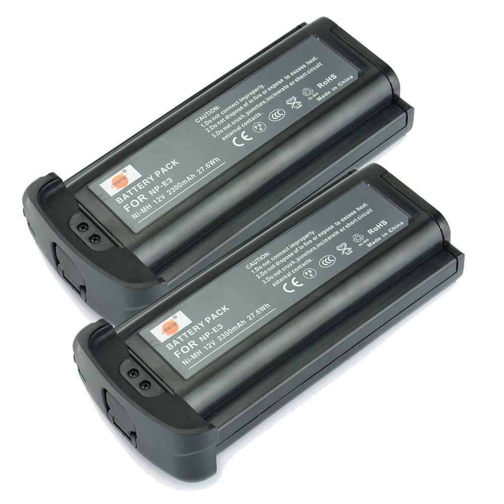 DSTE 2PCS NP-E3 7084A001 7084A002 Battery for Canon EOS 1D Mark II N 1DS II Camera remote switch trigger for canon eos 1d mark ii 1ds mark ii n more