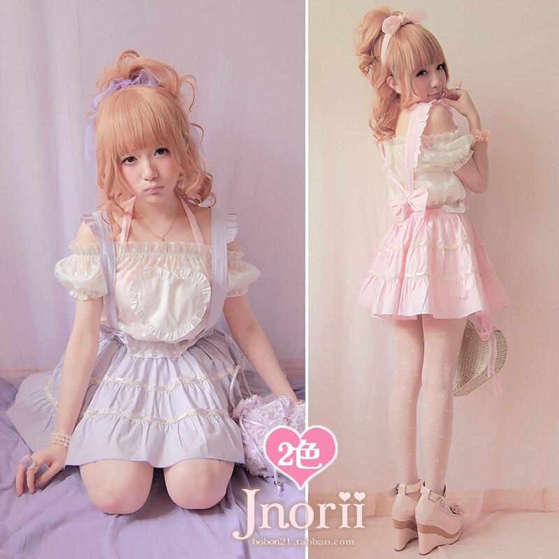Princess sweet lolita skirt cool thick summer braces skirt Bobon21 behind the bow lacing 100 cotton