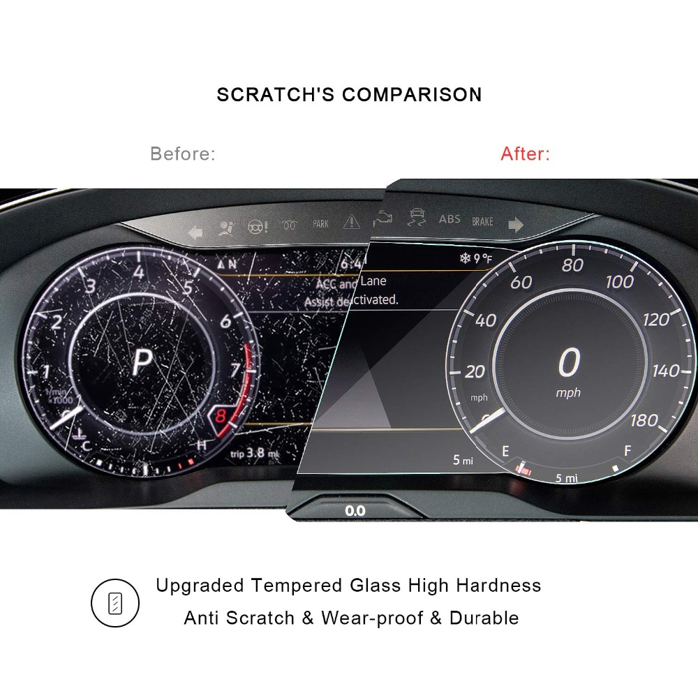 LFOTPP 2019 Arteon 10.3-Inch Instrument Panel Tempered Glass Screen Protector,Dash Panel Screen,Anti Scratch High Clarity