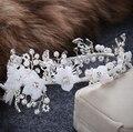 Cabelo do casamento do Vintage acessórios artesanais strass cabelo jóia nupcial hairbands mulheres flower headbands partido enfeites de cabelo
