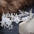 Vintage Wedding hair accessories handmade rhinestone hair jewelry bridal hairbands women flower headbands party hair ornaments