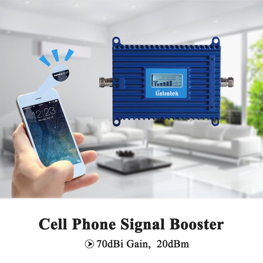 Lintratek 70dB 3G Signal Repeater 2100MHz AGC Signal Amplifier 3G - Reservdelar och tillbehör för mobiltelefoner - Foto 2
