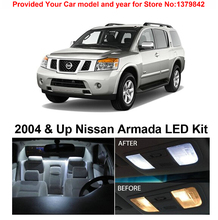 Free Shipping 11Pcs/Lot Xenon White Package Kit LED Interior Lights For Nissan Armada 2004 & Up