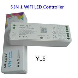 Milight YL5 2,4 г 15A 5 в 1 Wi-Fi светодио дный контроллер для одного цвета, ЧМТ, RGB, RGBW, RGB + CCT светодио дный полосы, Поддержка Amazon Alexa голос