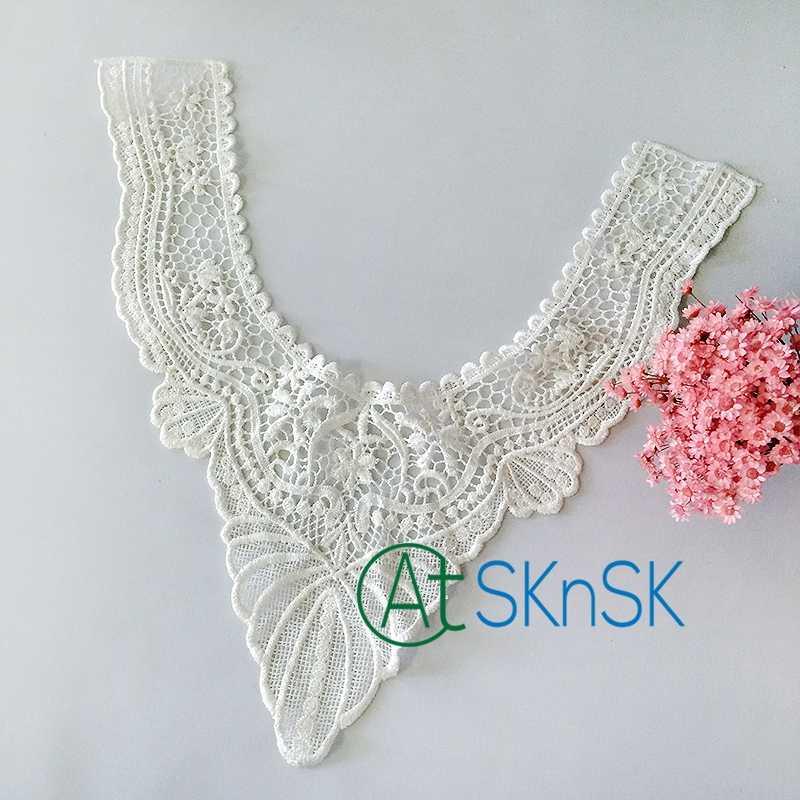 Detail Feedback Questions About 1pcs Plain White U Collar Diy Sew