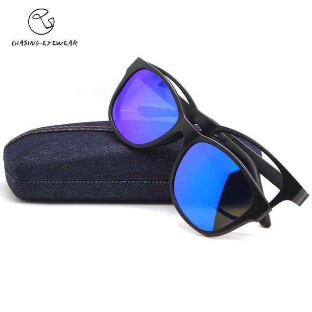 Чеканка 2016 мода поляризация polavized объектив человек TR90 магнит клип очки близорукость очки кадр вождения солнцезащитные очки CS2015S