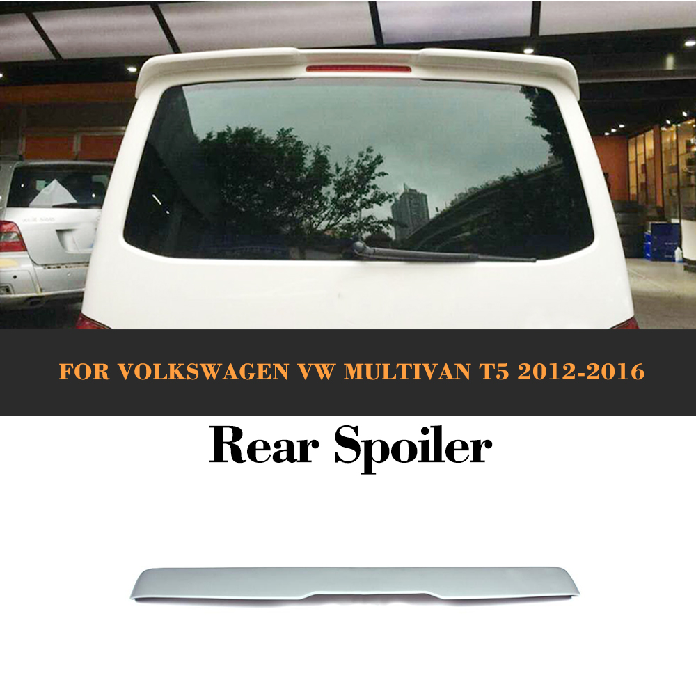 FRP unpainted  car rear roof spoiler lip wings fit for Volkswagen VW Multivan T5 2012-2016