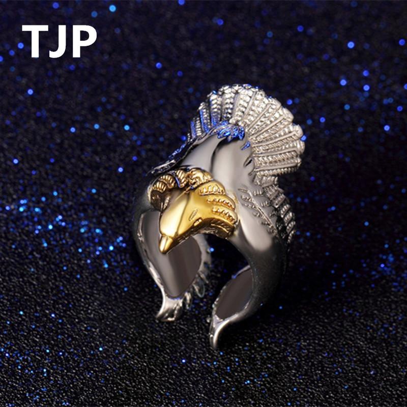 TJP Unique 925 Silver Men Party Jewelry Cute Animal Design Women Finger Accessories Adjustable Lady Body Bijou