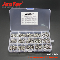 500pcs M3 M4 M5 A2 Stainless Steel DIN7991 Flat Socket Head Cap Screws With Nuts Assortment Kit NO.3346