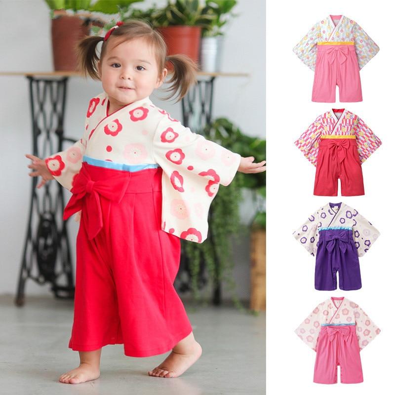2019 Kimono Baby Bodysuit Girl Boy clothes Japanese Kimono ...