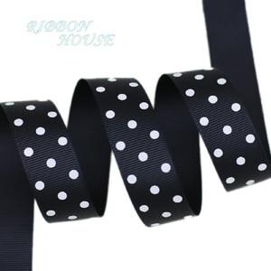 Image 5 - (10 yards/lot) Cartoon Polka Dots Printed Grosgrain Ribbon Lovely Series Ribbons Wholesale (22/38mm)