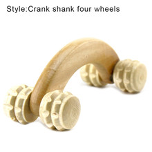 Antislip Handheld 4 Wheels Wooden Body Massage Roller Relieves Pain Stress Relief Health Care RJ99(China)