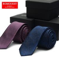 Navy Paisley Ties 2015 New 5cm Purple Plaids Corbatas Jacquard Skinny Narrow Slim Men's Necktie Navy Paisley Ties Wedding Dress