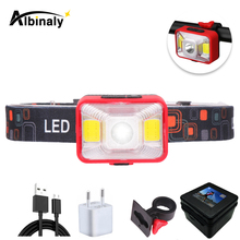 Rechargeable LED Headlamp 5 Lighting Modes Bicycle light Working Lamp Red light + white light For outdoor activities at night 50w 3 modes floodlights rechargeable 36led light lamp red white blue light for outdoor camping work light ipx67 waterproof