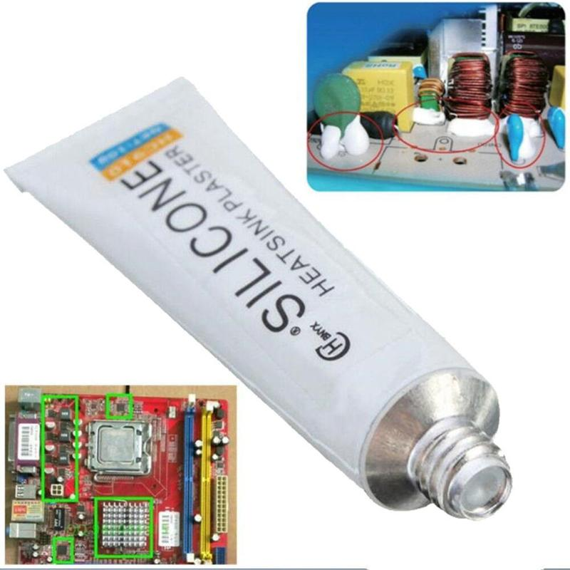 10g HC-910 Mini Toothpaste Tube Silicone-conducting Hot Adhesive Tube Radiator Heat-guided Heat Bonding Curing