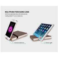 case ipad B.O.W  Light and portable Folded Bluetooth Keyboard, Aluminum Metal Wireless Mini Keyboard Case for Tablet/iPad /iPhone 8 7 (2)