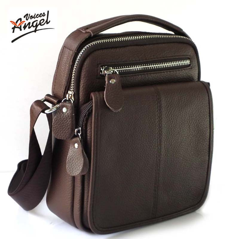 Genuine Leather Men Bag Cowhide Shoulder Fashion Men Messenger Bags Crossbody Bags <font><b>Handbags</b></font> <font><b>Brown</b></font> Men's Travel Bag 2016