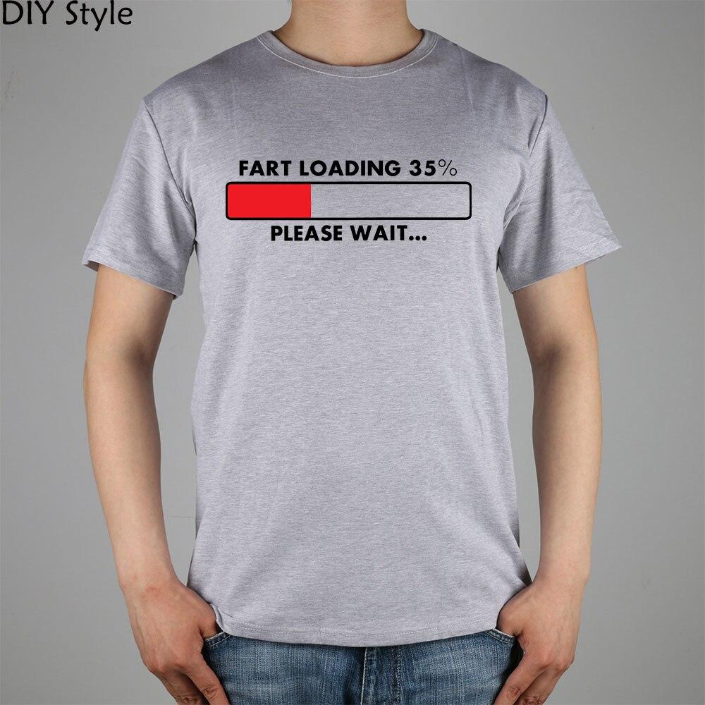 c7d4e8f4a2 Fart cargando se humor it Funny hombre de manga corta Camiseta de algodón  lycra top