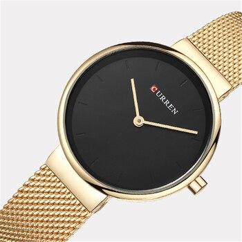 CURREN Hot Fashion Ladies Bracelet Waches Full Stainless Steel Mesh Wrist Watch For Women Female Quartz Clock Montre femme 9016 - discount item  47% OFF Women's Watches