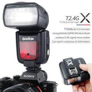 Image 5 - 3x Godox TT600 Dahili Almak kamera flaşı Speedlite ile Xpro Verici Canon Nikon Sony için Fuji Olympus Pentax Kamera
