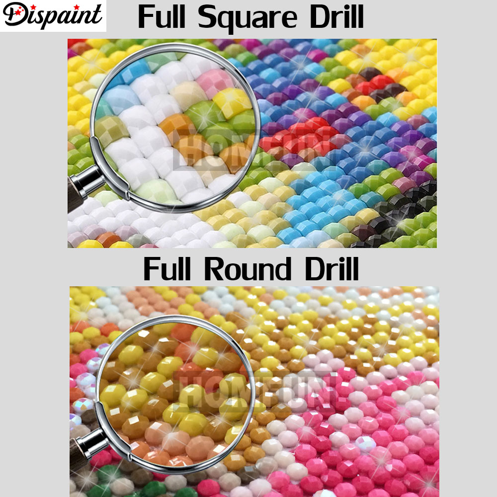 Dispaint Full Square Round Drill 5D DIY Diamond Painting quot Animal cat mouse quot 3D Embroidery Cross Stitch Home Decor Gift A12560 in Diamond Painting Cross Stitch from Home amp Garden