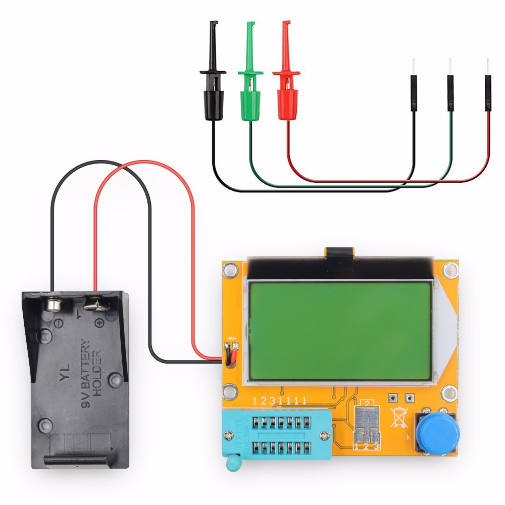 LCR-T4 Transistor Digital Tester Resistor Capacitor Tester diodo inductancia multímetro con gancho de prueba