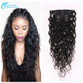 7 Pcs/Lot Natrual Wave Clip In Human Hair ExtensionsBrazilian Hair Weaves 100G Bundle No Tangle No Shedding Free ship