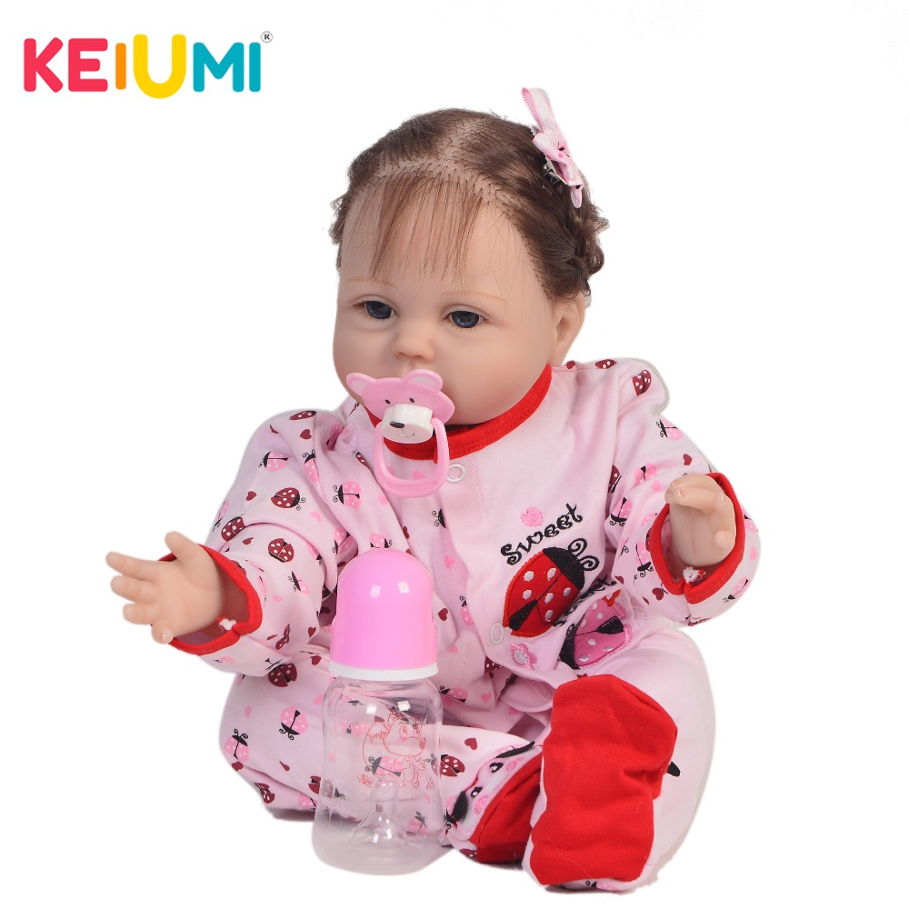 KEIUMI New 22 Inch Newborn Baby Doll Cloth Body Realistic Lovely Baby Doll Toy For Children's Day Kid Christmas Xmas Gifts keiumi real 22 inch newborn baby doll cloth body realistic lovely baby doll toy for children s day kid christmas xmas gifts