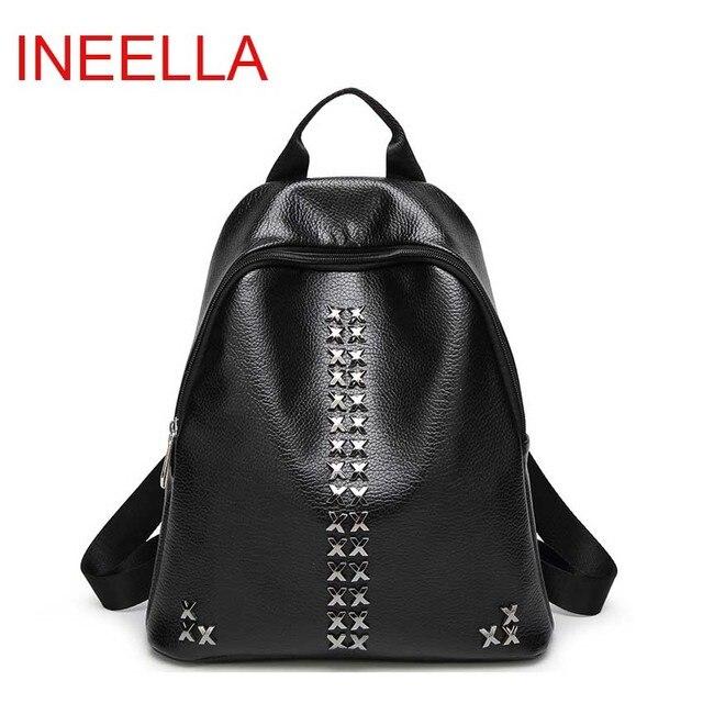 Inleela School Season Best Backpack Fashion Rivet Women Shoulder Bag High Quality Girls School Bag