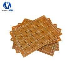 5 pcs diy protótipo de papel pcb placa universal 5*7 cm 5x7cm 5x7cm 5x7 diy eletrônico para placa de módulo para ponto a ponto diy