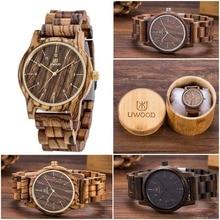 Top Luxury Brand Designer Mens Wood Watch Zabra Wooden Walnut Wood Watches Fashion Quartz Watches for Men Japan miyota Watch Men
