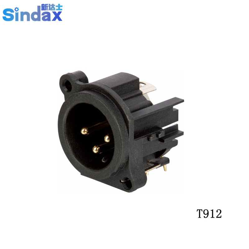 audio plug din 3 pin bent xlr male audio pcb connector speaker amplifier mixer professional. Black Bedroom Furniture Sets. Home Design Ideas