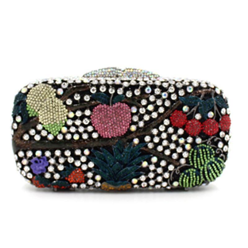 Роскошные черные, зеленые вечерние клатчи с кристаллами и металлическими украшениями, женская сумка, модный вечерний клатч с бриллиантами,