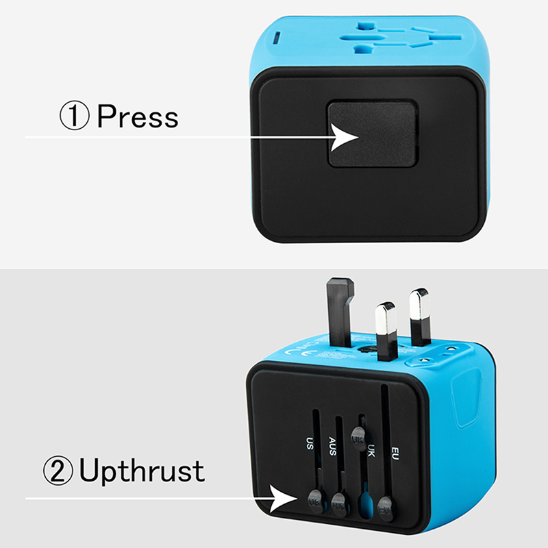 Wearpai Smart more USB travel Charging Adapter For iPhone Samsung Xiaomi EU UK US AU Plug