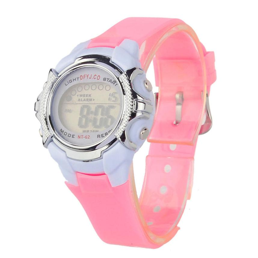 2017 Hot / Casual Fashion Children Digital LED Alarm Data Quartz - Męskie zegarki - Zdjęcie 5