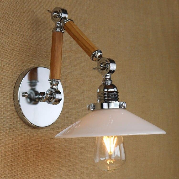 <font><b>LED</b></font> деревянные ретро Винтаж Лофт Промышленные Настенные светильники с регулируемым длинные руки лампы edison бра лампе arandela <font><b>aplik</b></font>