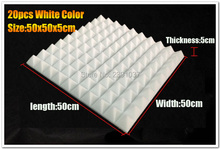 White color acoustic foam Pyramid panel studio Fast EMS shipping 20pcs size 50*50*5cm