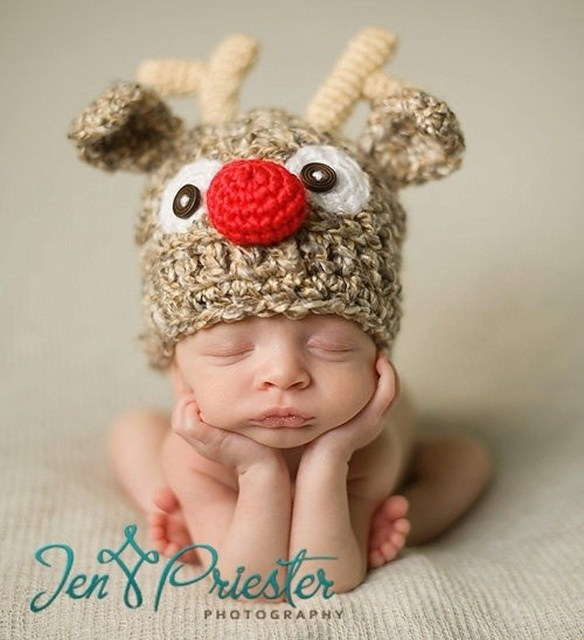 Retail Newborn Photography Props Fashion Elk styles baby hat crochet  handmade knitted hat baby Christmas gift fffd50d975e