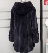2017 factory new arrival women's full pelt fashion genuine mink fur coat hooded ,lady 100% real mink fur garment LSQ21