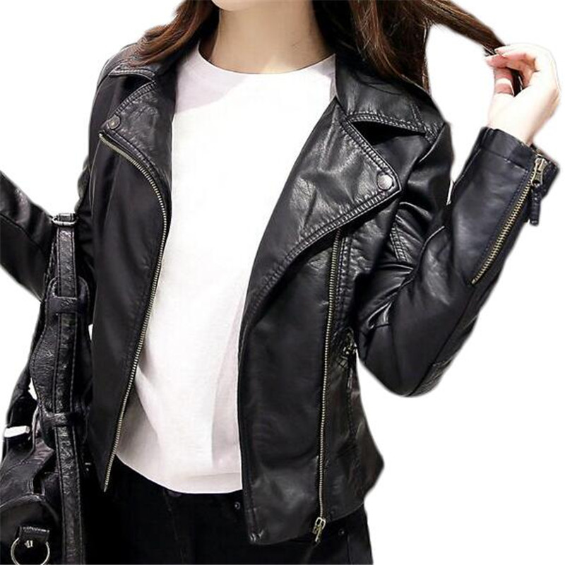 Popular Cropped Black Leather Jacket-Buy Cheap Cropped Black ...