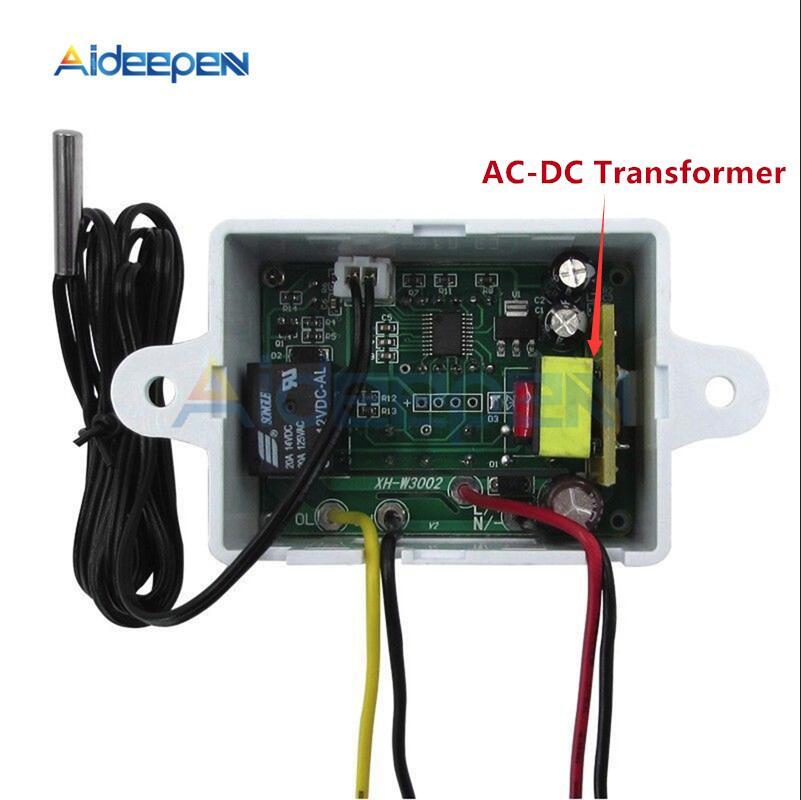 XH-W3001 W3002 12V 24V 220V LED Digital Control Thermostat Temperature Microcomputer Switch Thermometer Thermoregulator Sensor