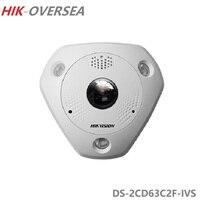 HIK 12MP Fisheye ip камера DS 2CD63C2F IVS влагозащищенный встроенный микрофон и динамик IR 15 м Поддержка POE ONVIF оптовая продажа
