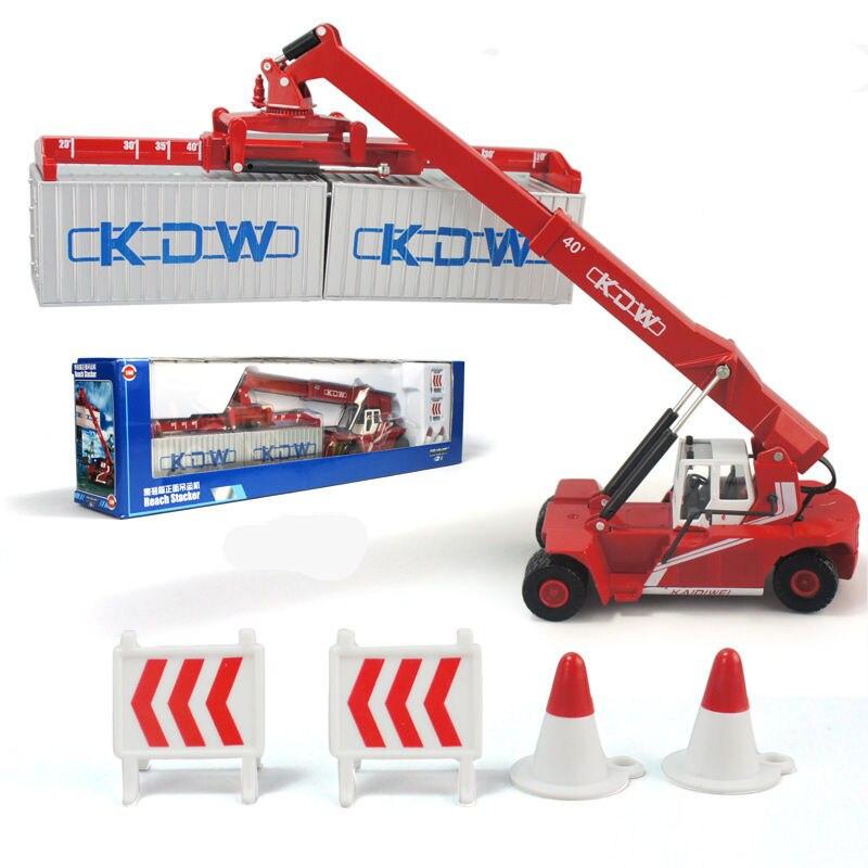 360 Degrees Rotation 1:50 Alloy Crane Car Model Simulation Scenario Game Container Derrick Heavy Forklift Construction Vehicle