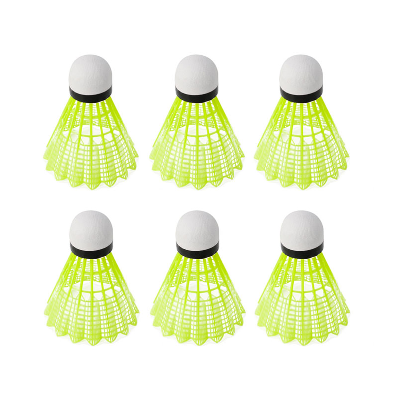 Shuttlecock 6pcs Gym Exercise Fitness Yellow Nylon Shuttlecocks Badminton Ball Sport Durable
