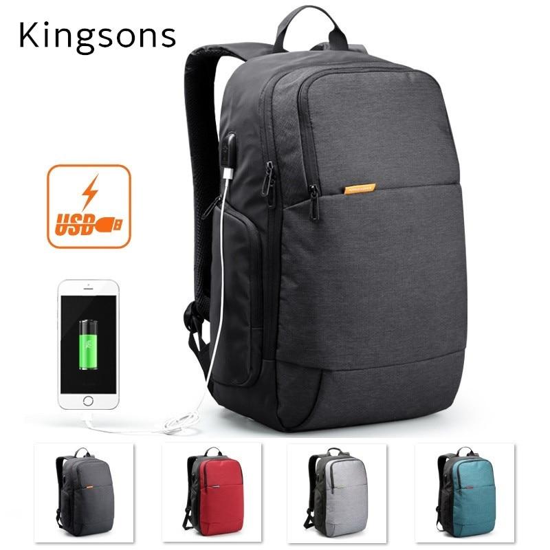 2018 New Kingsons Brand Backpack For Laptop 14,15,15.6,Case For Macbook Notebook 15.4, Business Bag, Free Drop Shipping 3143 кейс для диджейского оборудования thon case for xdj rx notebook
