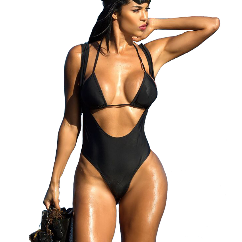 High Cut Out One Piece Swimsuit Women 2017 Sexy Trikini ...
