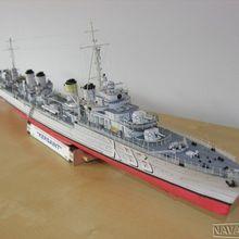 Высокое качество Французский Vauclin класс эсминец кельсена 3D бумажный модельный комплект